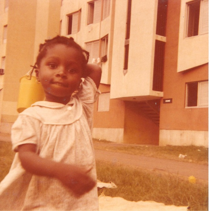 Playing as a four year old in Port-Bouët, Abidjan, Ivory Coast