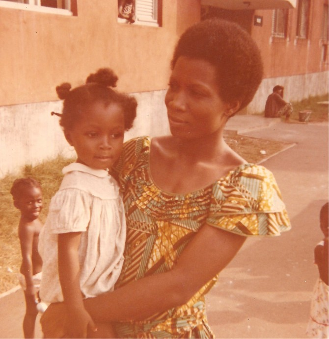 With my mother in Port-Bouët, Abidjan, Ivory Coast