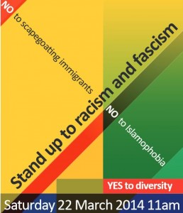 Anti-Racism rally, Sat 22 March