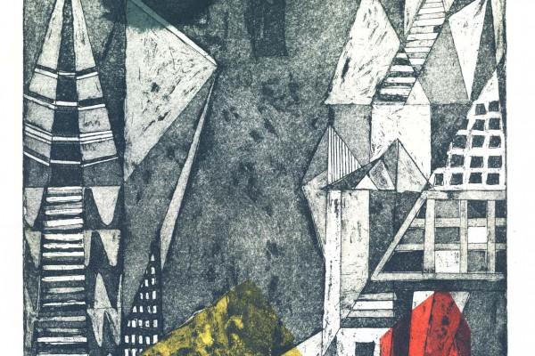 Etching Illustrating the ethos of a city. © Yekinni Art
