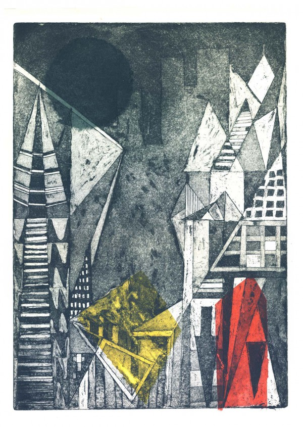 Etching Illustrating the ethos of a city. © Yekinni Art