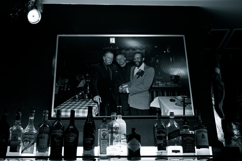 Photo of Marvin with Freddie Cousaert and the owner of the Lafayette bar.