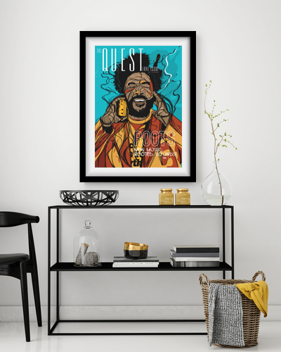 Questlove framed interior