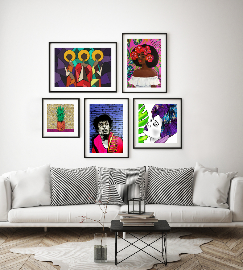 Wall framed prints