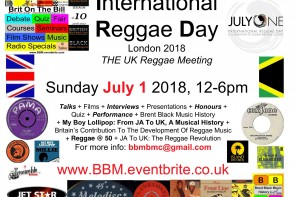 International Reggae Day 2018, London – 1/7/2018