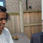 "Afropean's Nina Camara and Chris (from Sheffield's Bare Knuckle Soul) @ ""Afropean - Notes from Black Europe"" launch party"