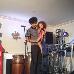 "Afropean's Johny Pitts and the beautiful Celia welcome everyone to ""Afropean - Notes from Black Europe"" launch party"